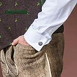 Alpenflüstern Trachten-Manschettenknöpfe Löwe antik-Silber-Farben API092 - 2