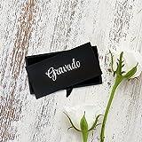 Gravado Runde Manschettenknöpfe aus Edelstahl mit Kompass Gravur und Personalisiert mit Initialen, Inkl. Geschenkbox, Herren Schmuck - 5
