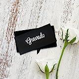 Gravado Runde Manschettenknöpfe aus Edelstahl mit Kompass Gravur und Personalisiert mit Initialen, Inkl. Geschenkbox, Herren Schmuck - 8
