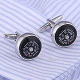 JCAKBTY Manschettenknöpfe Top Luxusmarke Anzug Hemdknopf Designer Kompass Manschettenknöpfe