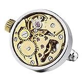 MunkiMix 2 PCS Rhodium Rhodiniert Manschettenknöpfe Silber Golden Zwei Ton Funktionsweise Uhrwerke Zoll Arbeit Zustand Herren -