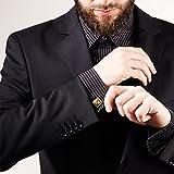 Elegante Manschettenknöpfe mit hochwertiger Diamanten Gravur | Quadratisch | GOLD glänzend -